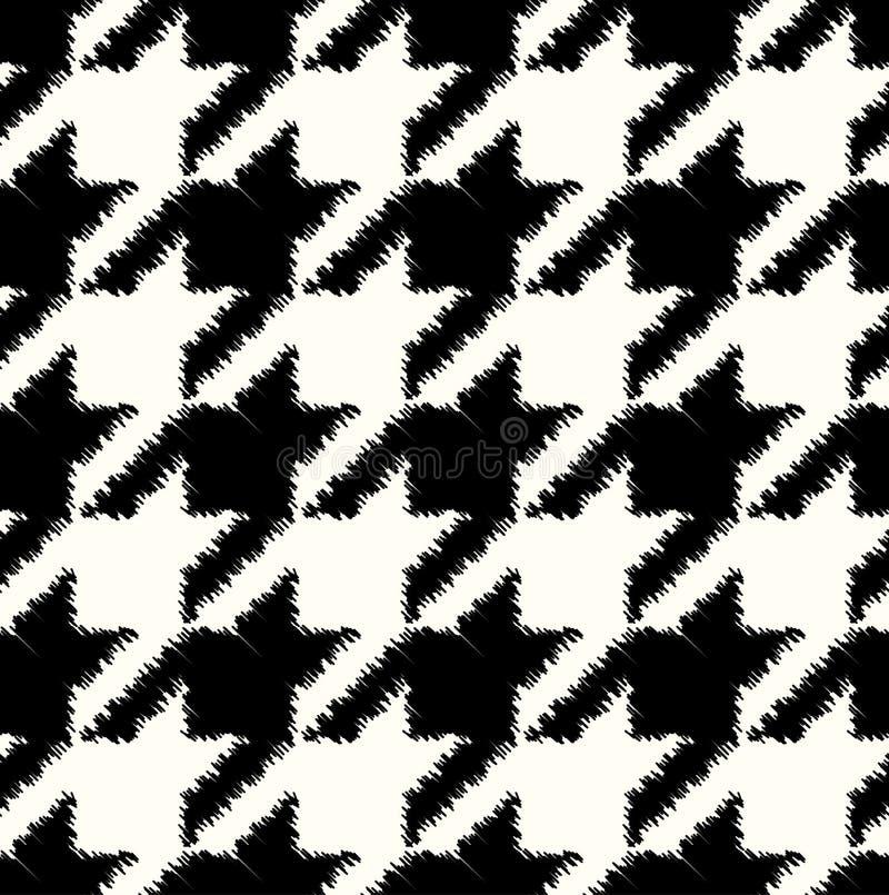 Teste padrão quadriculado sem emenda da tela ilustração do vetor