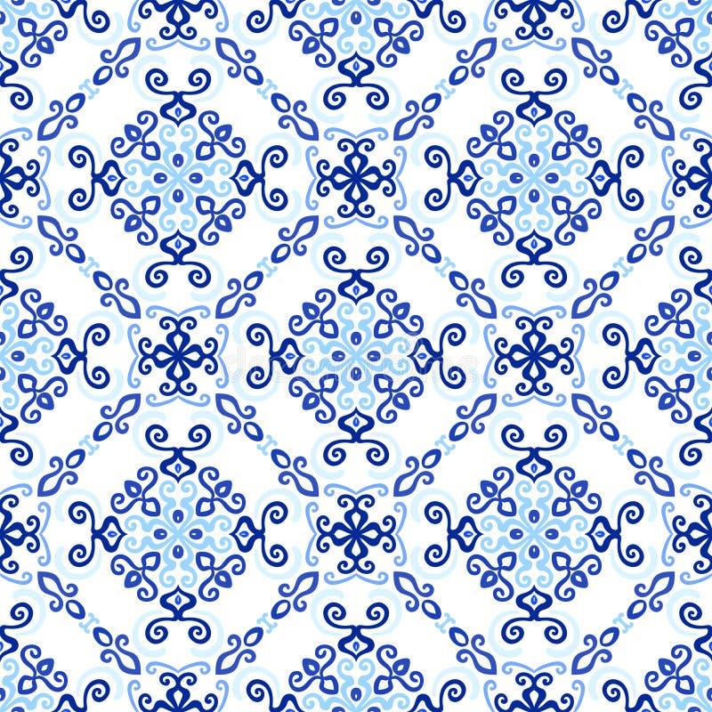 Teste padrão real do Weave do fundo azul ilustração royalty free
