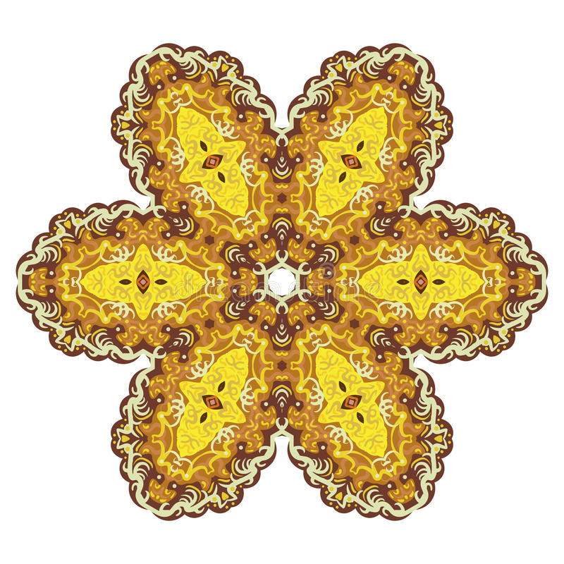 Teste padrão redondo amarelo e verde do laço ilustração royalty free