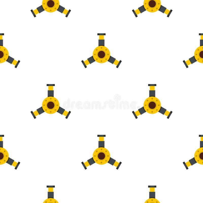 Teste padrão redondo do detalhe do mecânico sem emenda ilustração stock