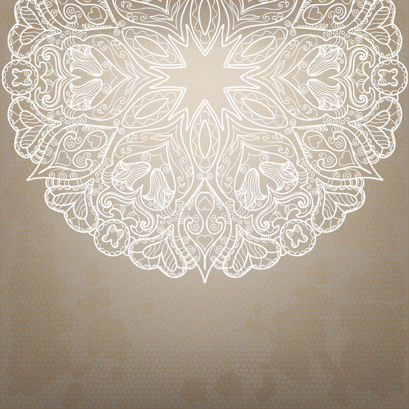 Teste padrão redondo do laço do vintage. ilustração royalty free