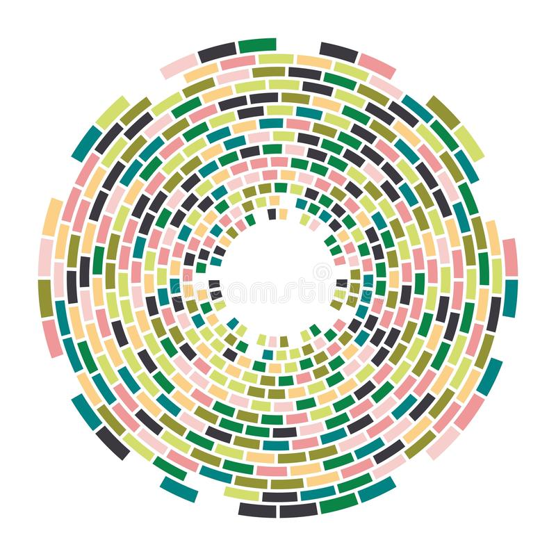 Teste padrão redondo do mosaico colorido abstrato do vetor ilustração royalty free