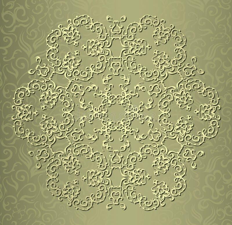 Teste padrão redondo elegante do laço ilustração royalty free