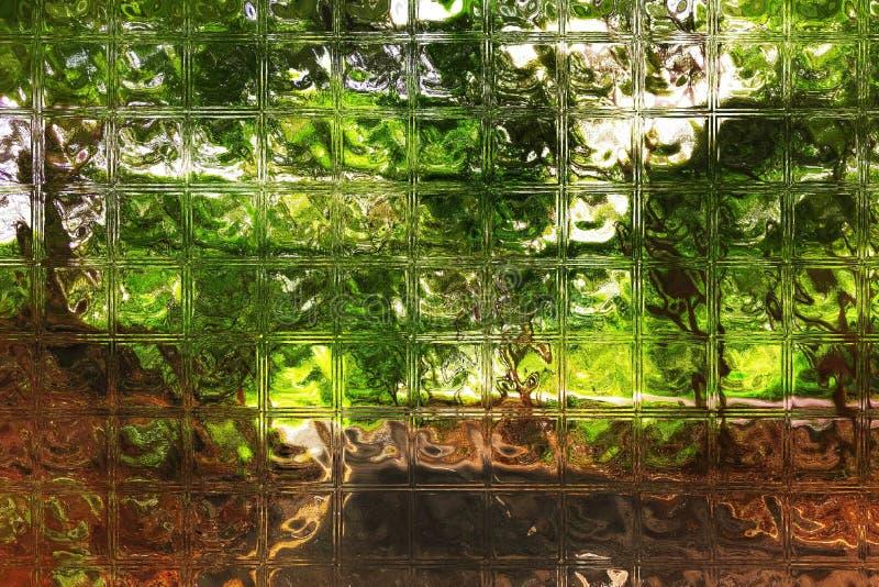 Teste padrão reflexivo do bloco de vidro do fundo abstrato ilustração royalty free