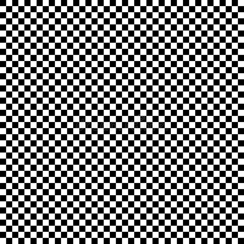 Teste padrão regular dos quadrados em alternar cores preto e branco ilustração royalty free