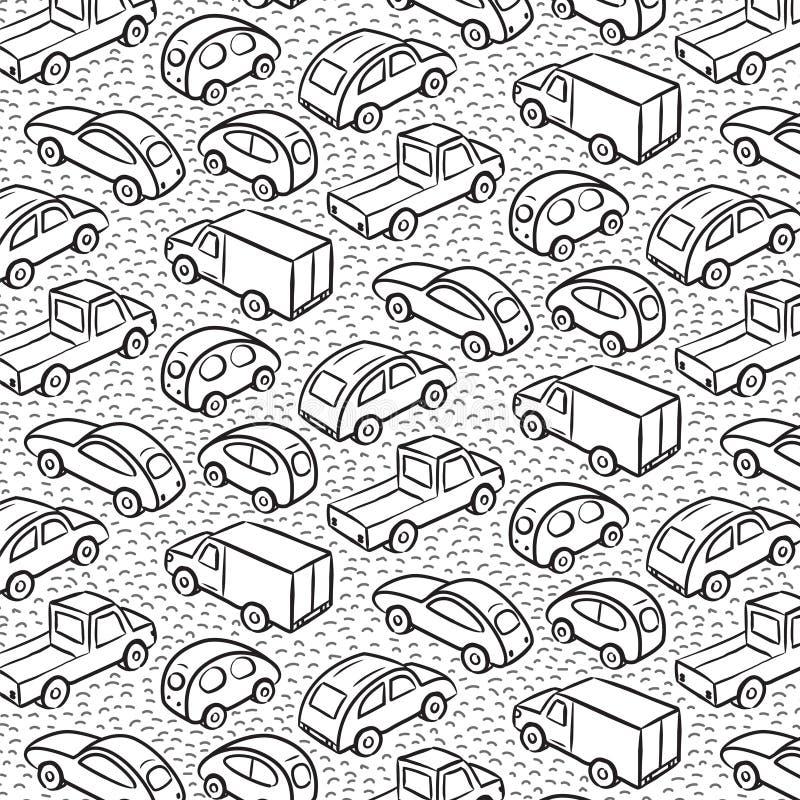 Teste padrão repetitivo com carros do transporte ilustração royalty free
