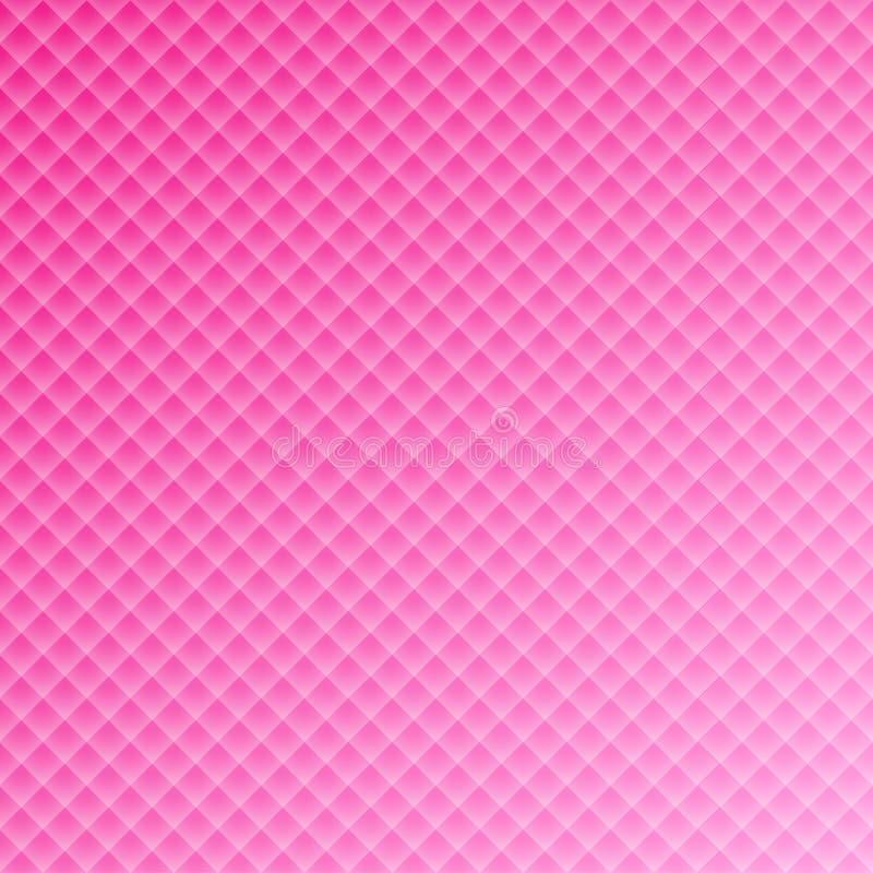 Teste padrão retangular quadrado cor-de-rosa do fundo para o projeto do casamento ilustração stock