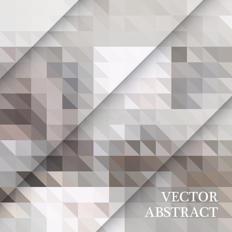 Teste padrão retro abstrato de formas geométricas Contexto colorido do mosaico do inclinação Fundo triangular do moderno geométri ilustração royalty free