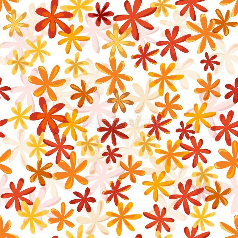 Teste padrão retro da flor sem emenda na coluna brilhante do outono ilustração royalty free