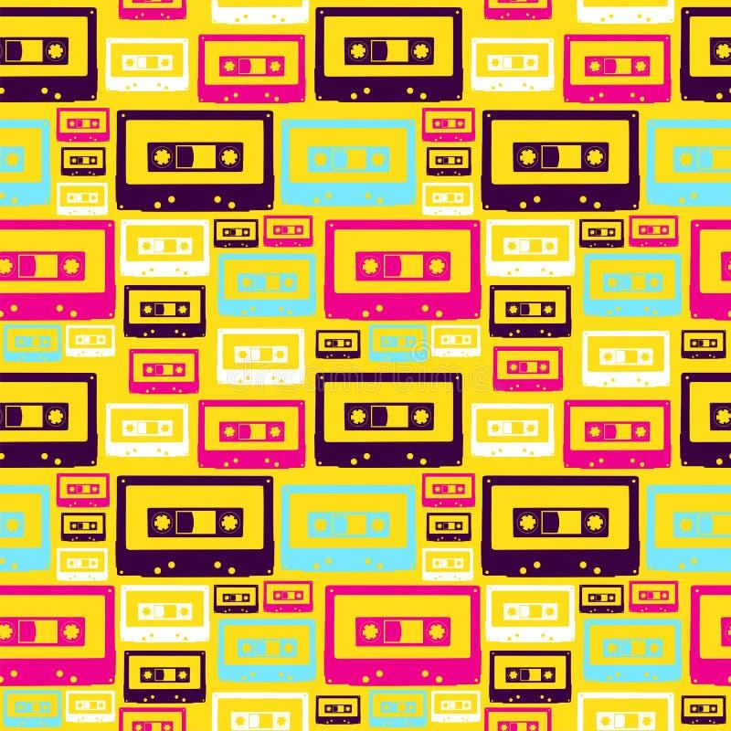 Teste padrão retro das cassetes áudio do PNF ilustração royalty free
