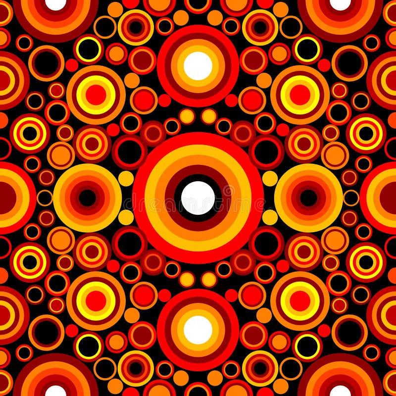 Teste padrão retro do círculo sem emenda ilustração do vetor