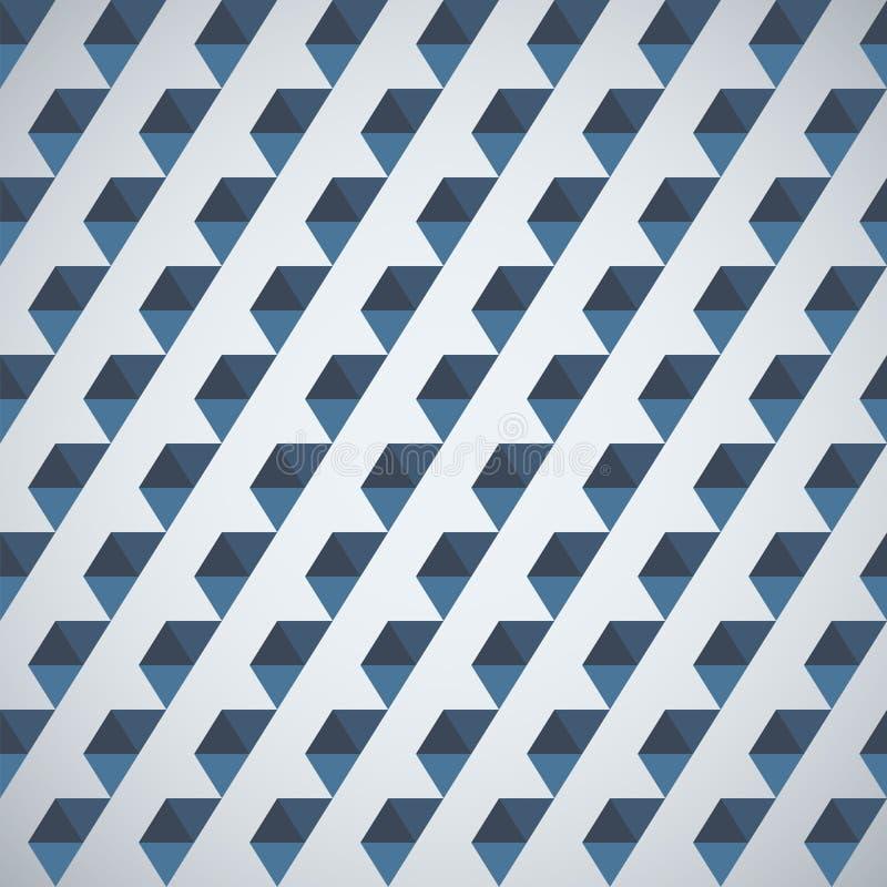 Teste padrão retro do meio hexágono das formas geométricas ilustração stock