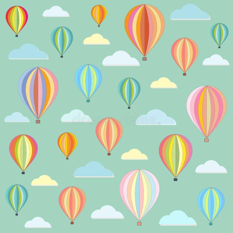 Teste padrão retro do sumário da cor do balão ilustração royalty free