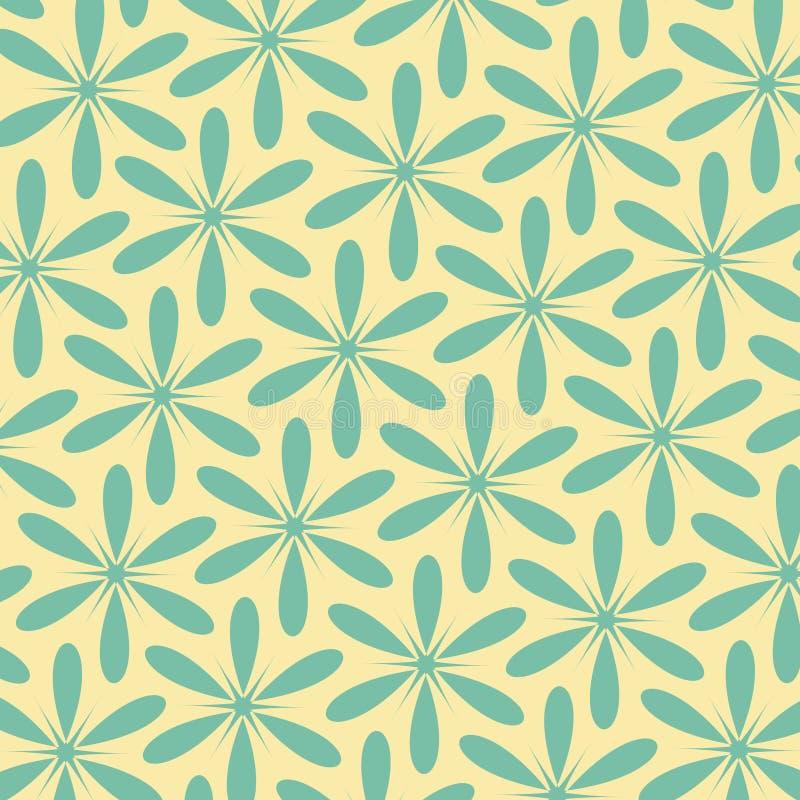 Teste padrão retro floral abstrato Cor do estilo do vintage Pode ser usado para o projeto de cartão, suficiências de teste padrão ilustração do vetor