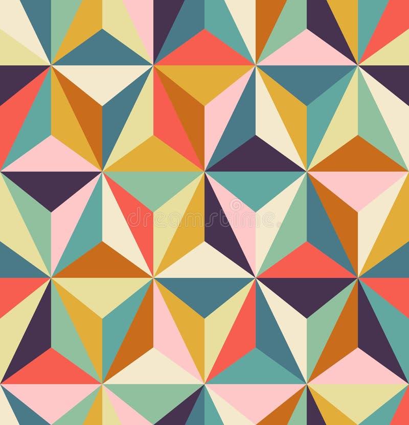 Teste padrão retro geométrico sem emenda ilustração stock