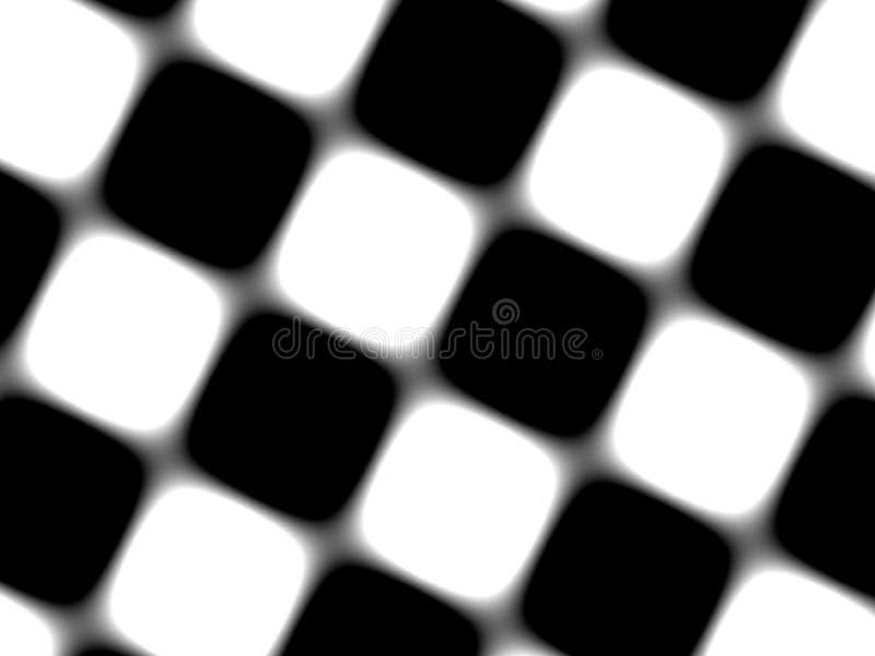 Teste padrão retro preto e branco ilustração do vetor