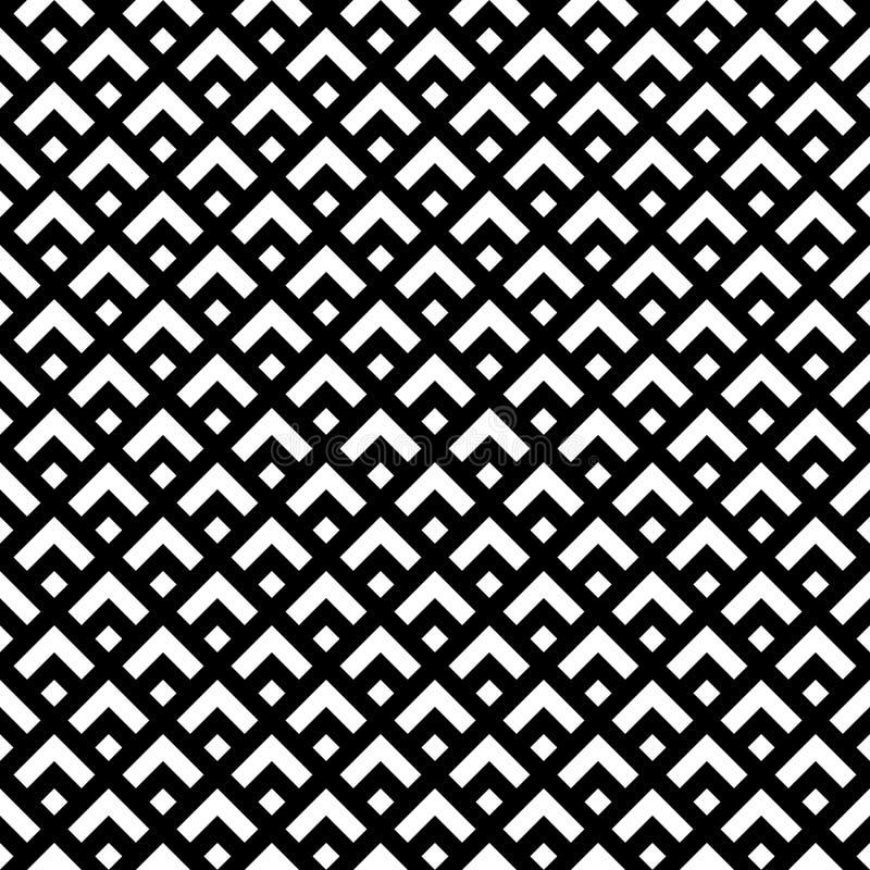 Teste padrão retro preto e branco do estilo ilustração royalty free