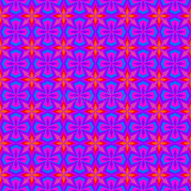 Teste padrão retro roxo do papel de parede ilustração royalty free