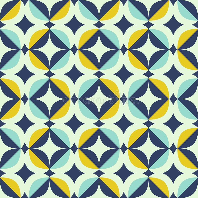 Teste padrão retro sem emenda no estilo escandinavo com elementos geométricos ilustração royalty free