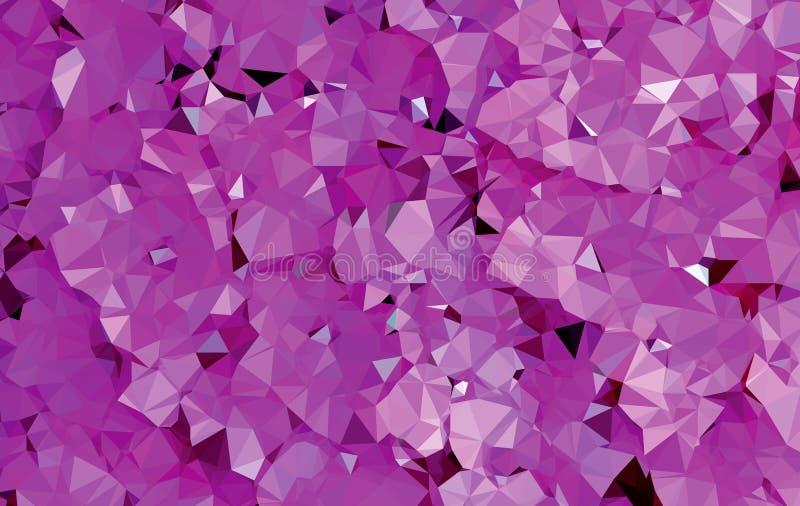 Teste padrão roxo abstrato da geometria do triângulo do fundo ilustração stock