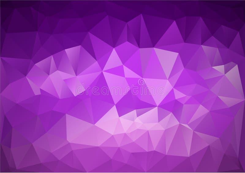 Teste padrão roxo geométrico ilustração stock
