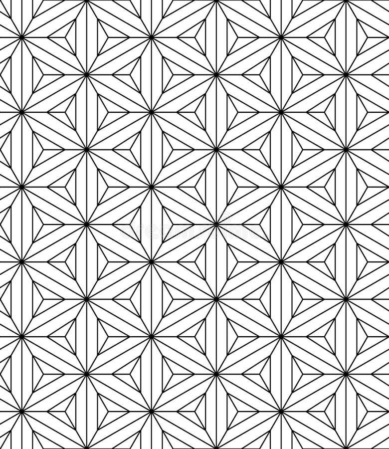 Teste padrão sagrado da geometria sem emenda ilustração royalty free
