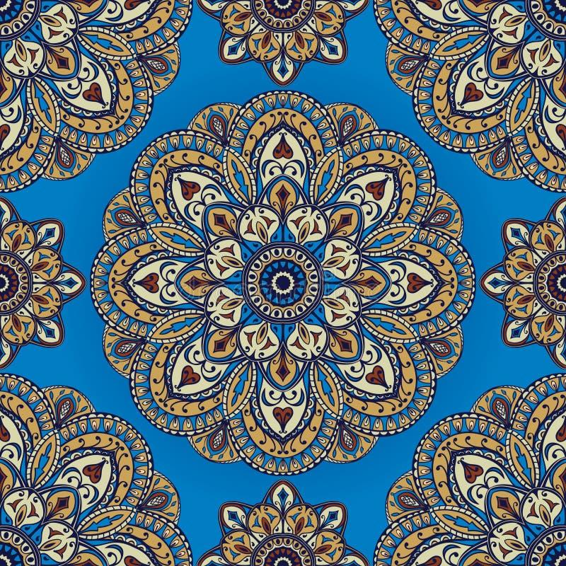Teste padrão saturado, oriental ilustração stock
