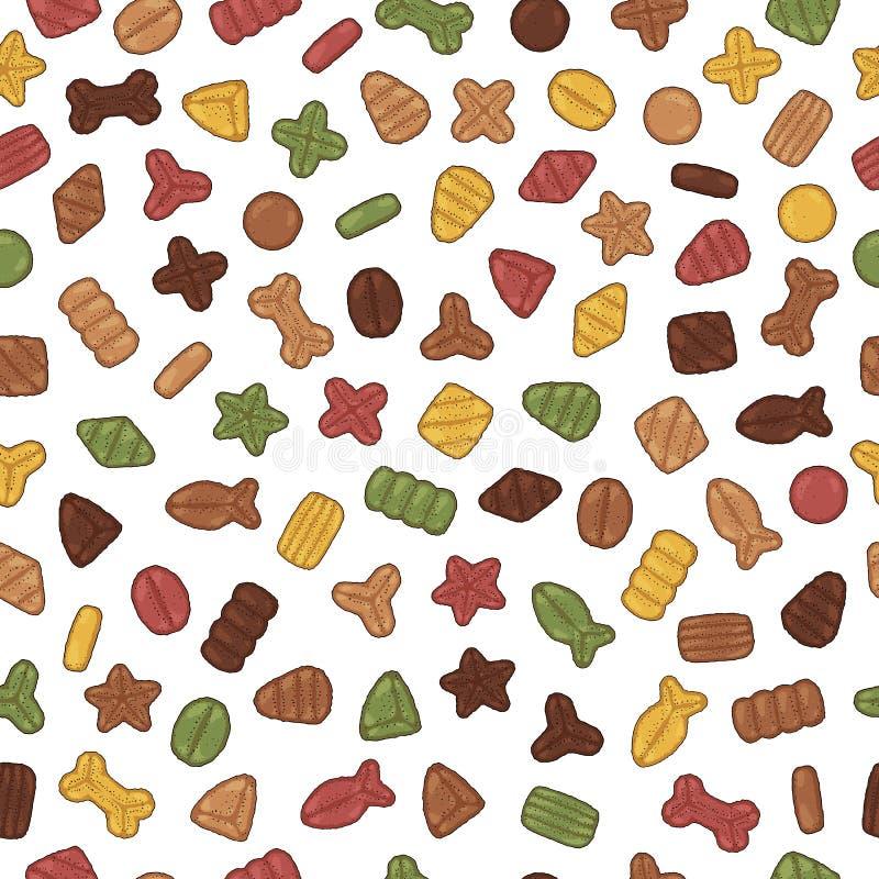 Teste padrão seco dos alimentos para animais de estimação ilustração royalty free