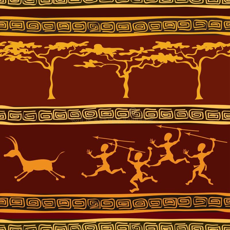 Teste padrão sem emenda étnico africano ilustração stock
