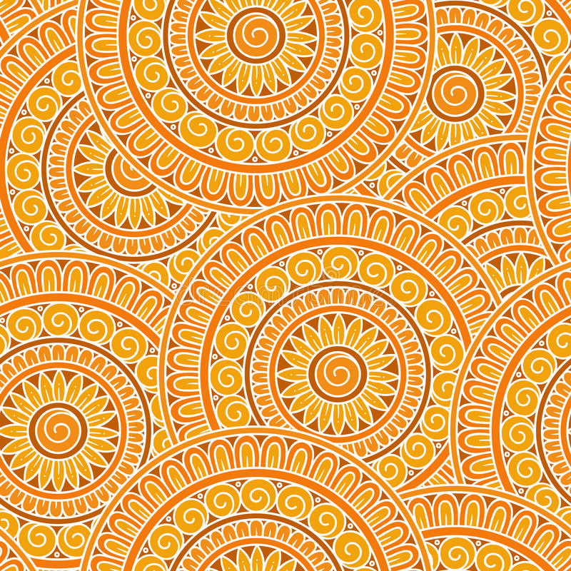 Teste padrão sem emenda étnico tribal do vetor abstrato ilustração stock