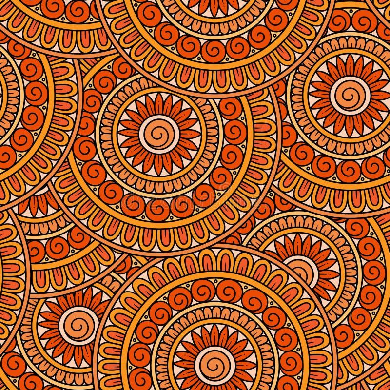 Teste padrão sem emenda étnico tribal do vetor abstrato ilustração do vetor