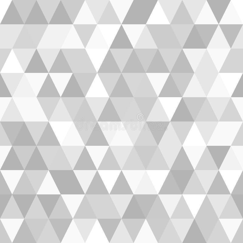 Teste padrão sem emenda abstrato bonito do fundo com triângulos cinzentos Imagem do vetor ilustração royalty free