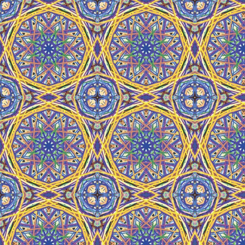 Teste padrão sem emenda abstrato calidoscópico ilustração stock