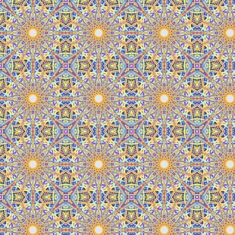 Teste padrão sem emenda abstrato calidoscópico ilustração royalty free
