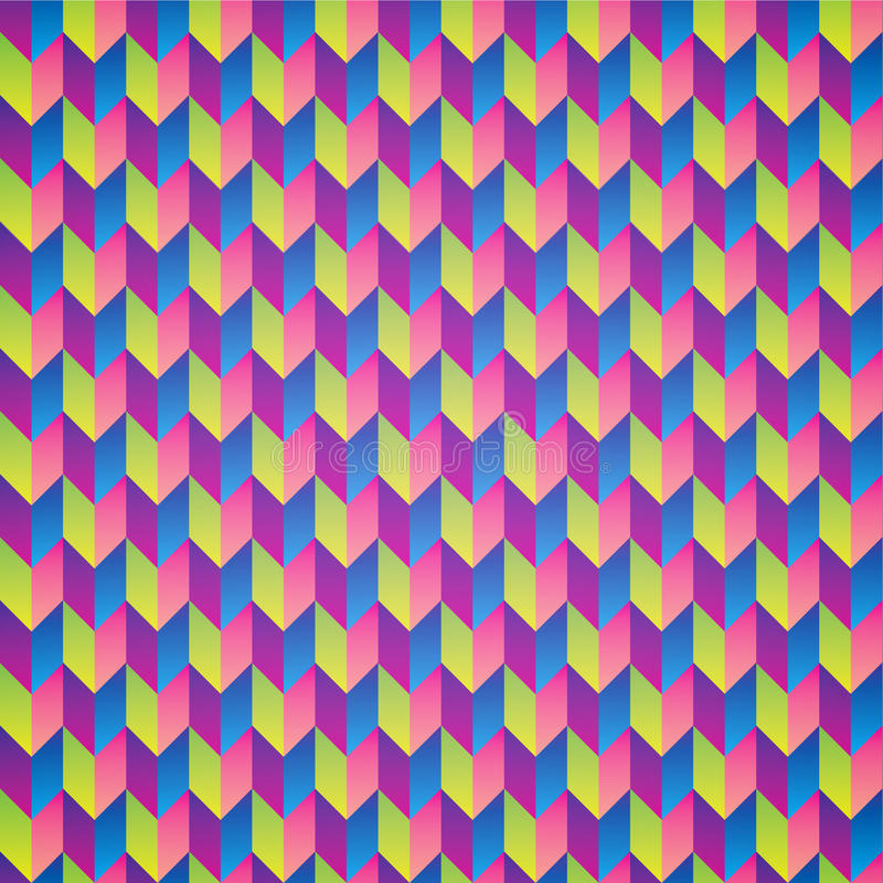 Teste padrão sem emenda abstrato colorido ilustração royalty free