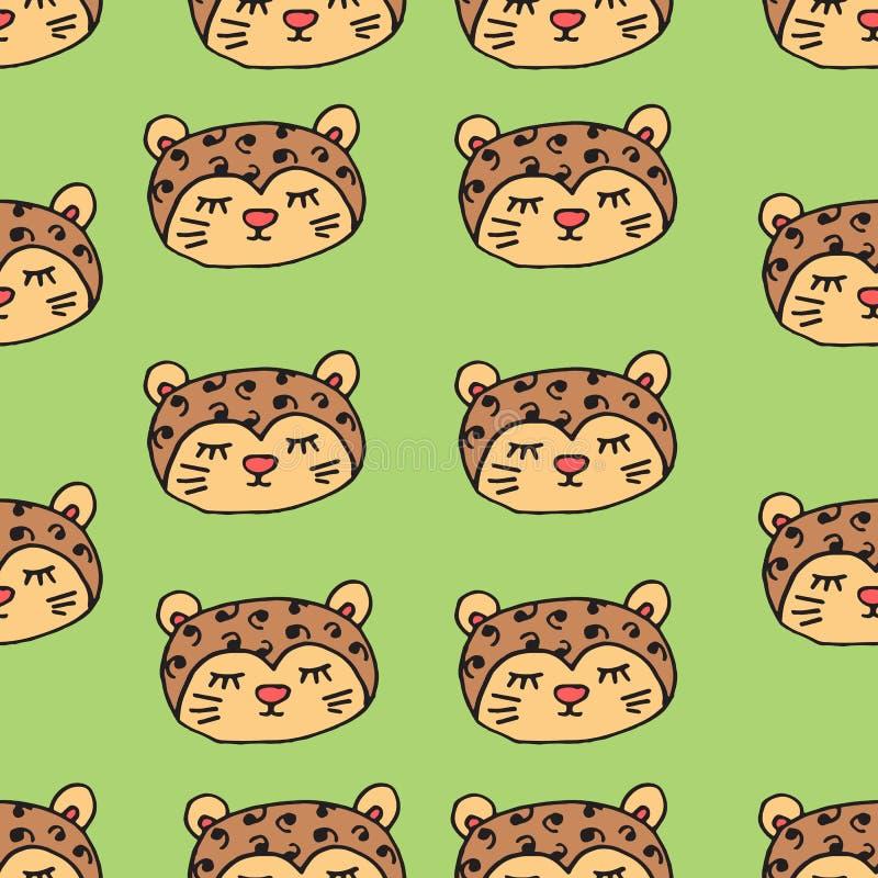 Teste padrão sem emenda abstrato com animais Cores macias A ilustração das crianças coloridas Cópia para matérias têxteis, empaco ilustração royalty free