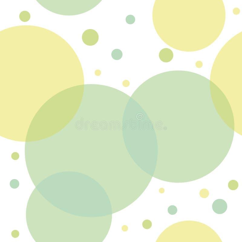 Teste padrão sem emenda abstrato com círculos verdes ilustração stock