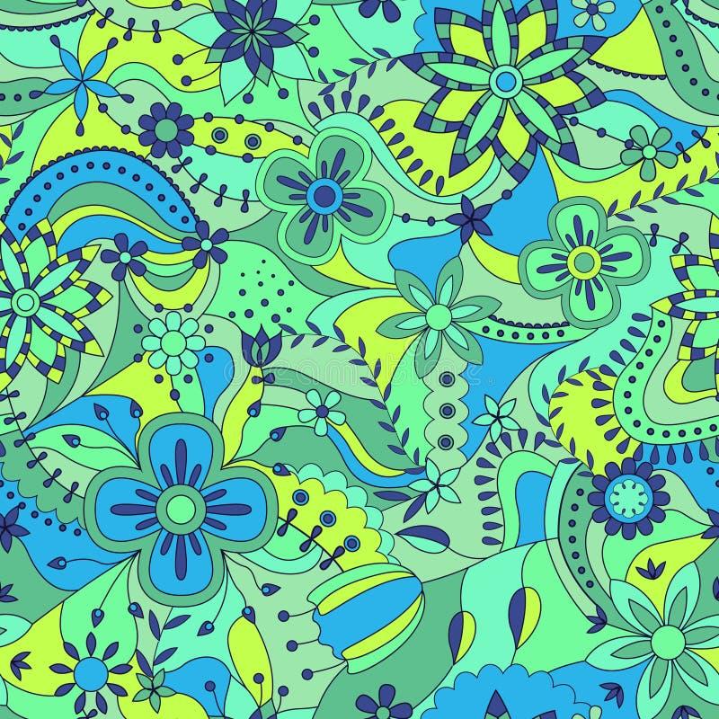 Teste padrão sem emenda abstrato com flores ilustração royalty free
