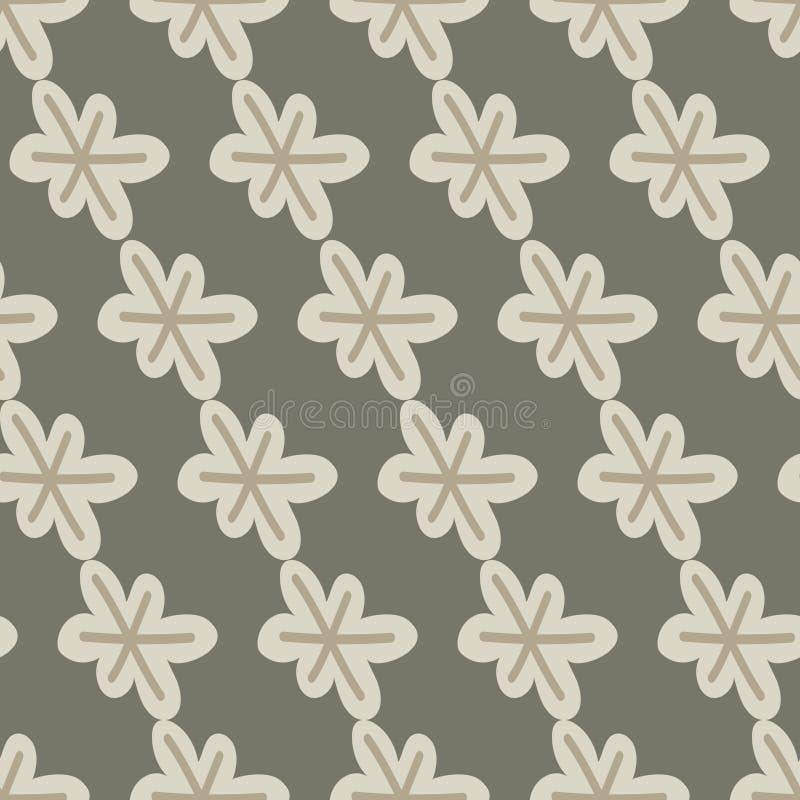 Teste padrão sem emenda abstrato com flores, flocos de neve ou estrelas Ilustra??o do vetor imagem de stock