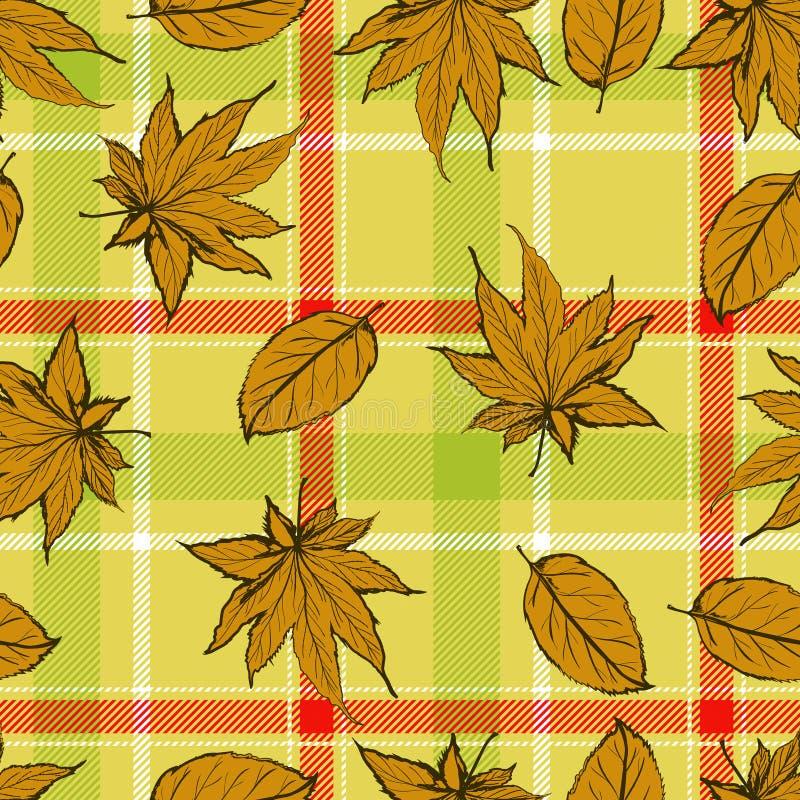 Teste padrão sem emenda abstrato com folhas e fundo das flores com textura do grunge das flores ilustração stock