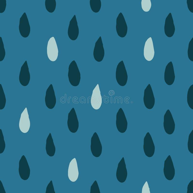 Teste padrão sem emenda abstrato com gotas Tinta e escova Mão desenhada ilustração royalty free