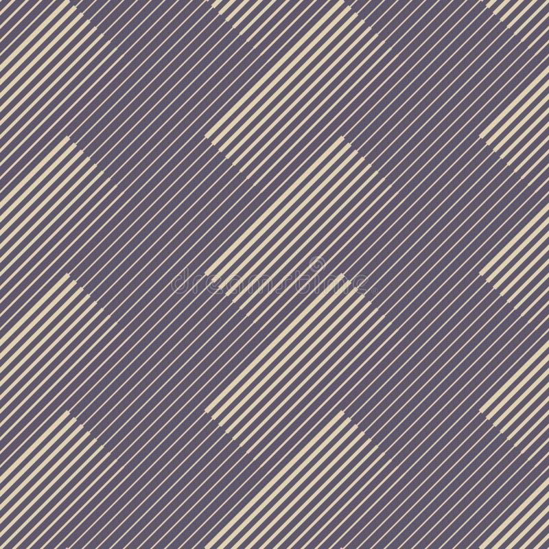 Teste padrão sem emenda abstrato com linhas diagonais de espessura diferente ilustração stock
