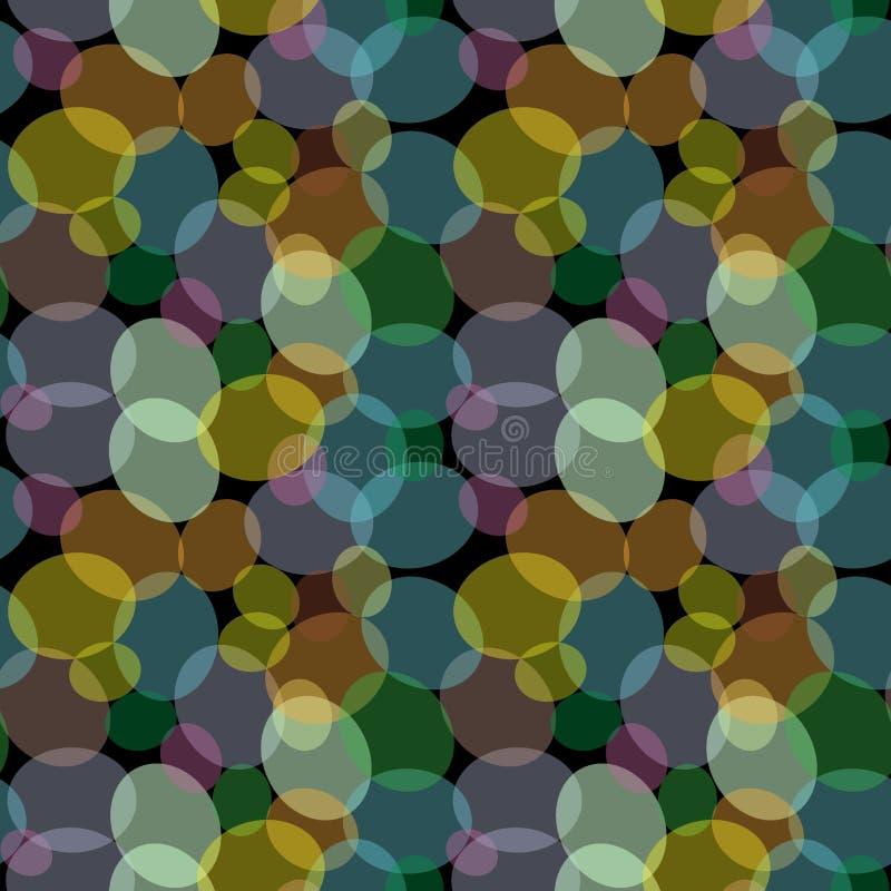 Teste padrão sem emenda abstrato com pouco círculo colorido ilustração do vetor