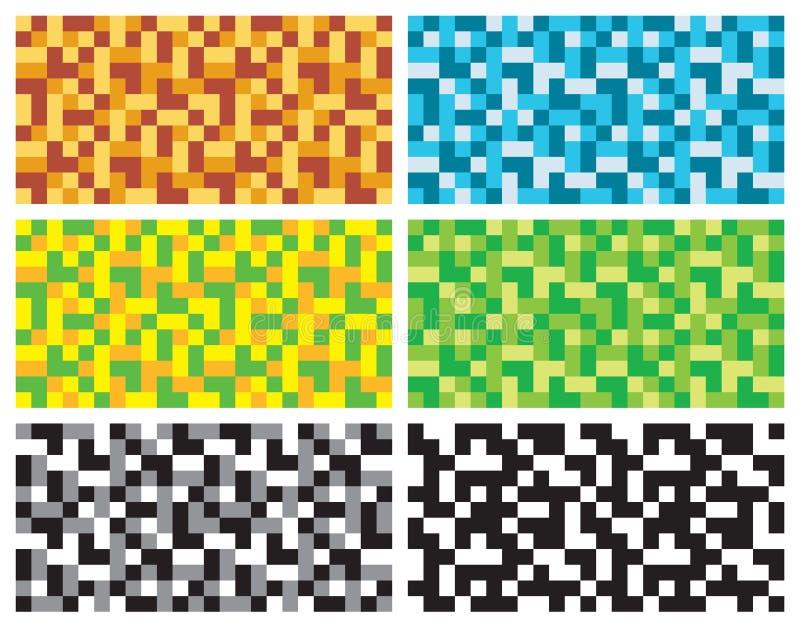 Teste padrão sem emenda abstrato da textura de mosaico, grupo de cor da decoração ilustração stock