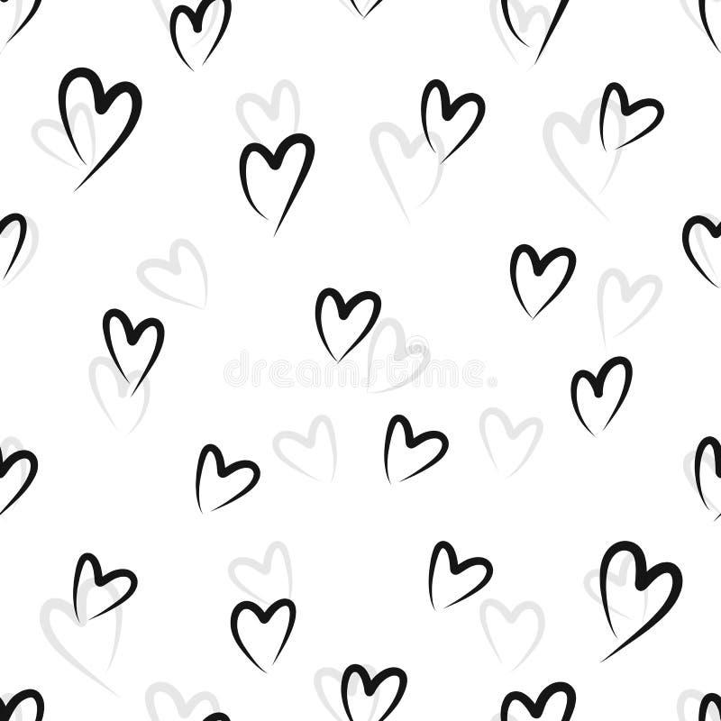 Teste padrão sem emenda abstrato do coração Ilustração da tinta Rebecca 36 ilustração stock