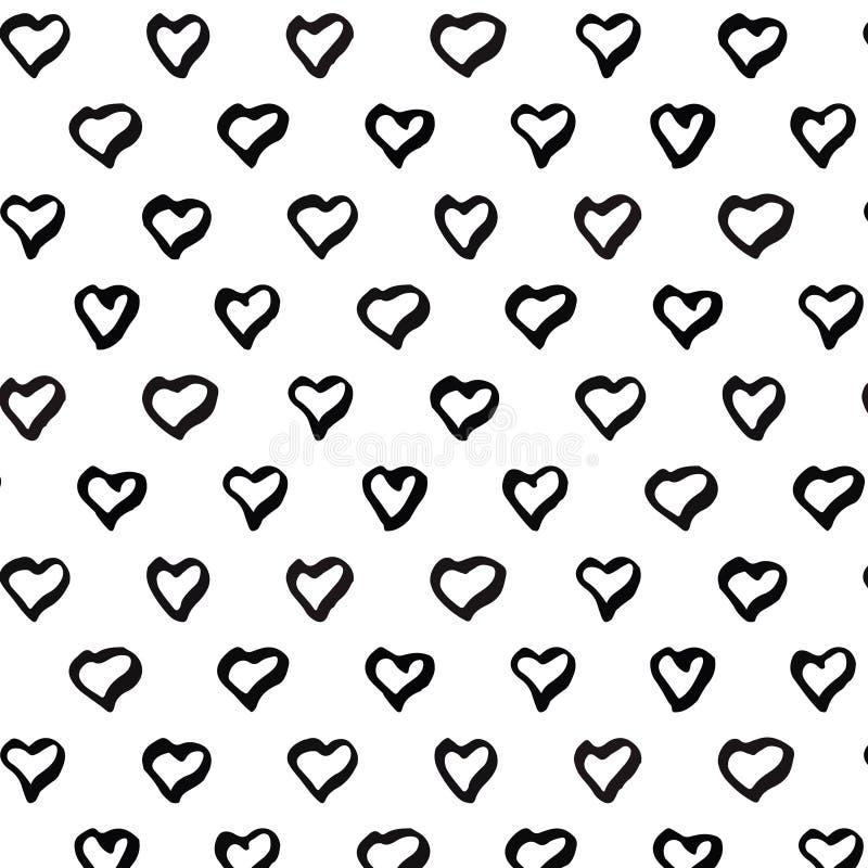 Teste padrão sem emenda abstrato do coração Rebecca 36 ilustração stock