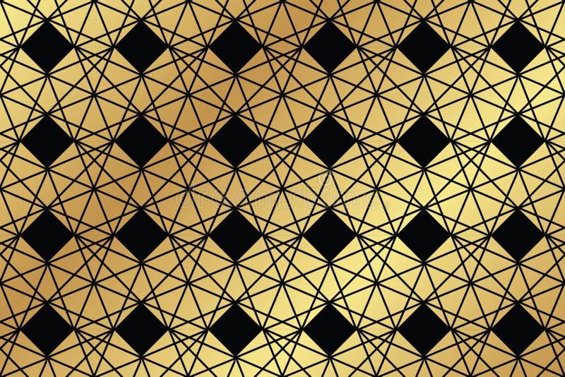 Teste padrão sem emenda, abstrato do fundo feito com trapezoidalmente e rombo ilustração stock