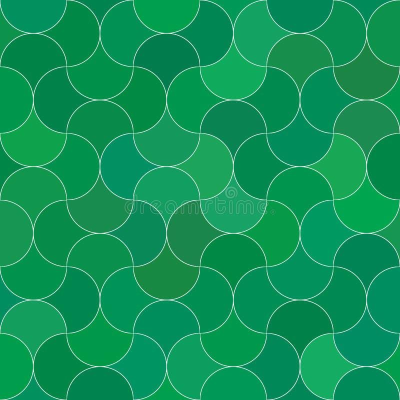 Teste padrão sem emenda abstrato do verde da escala ilustração royalty free