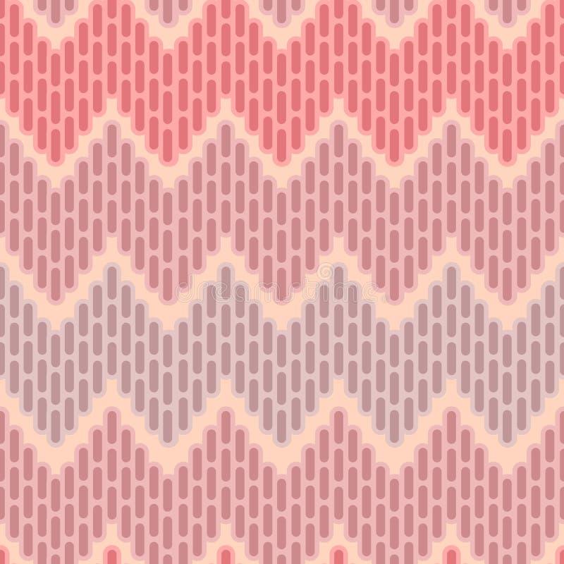 Teste padrão sem emenda abstrato do ziguezague ilustração royalty free