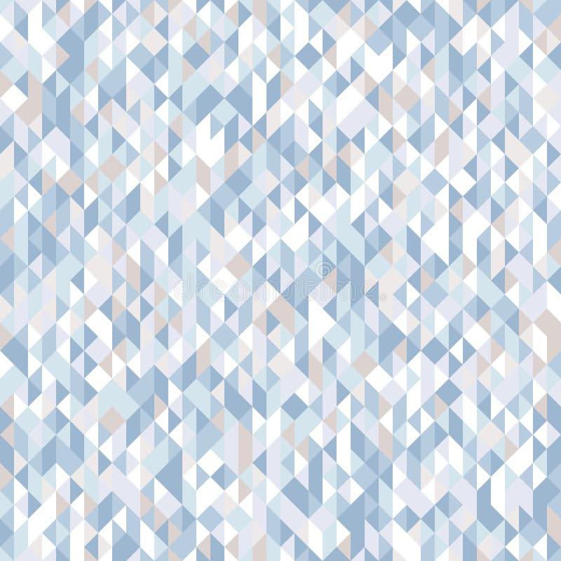 Teste padrão sem emenda abstrato dos triângulos Máscaras e inclinações de formas geométricas ilustração stock